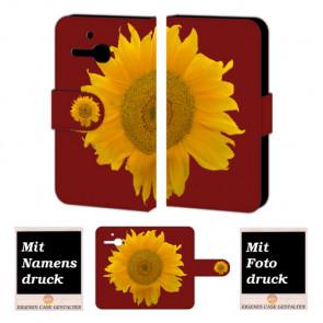 Alcatel One Touch MPop OT- 5020 Sonnenblumen Handy Tasche Hülle Foto Bild Druck