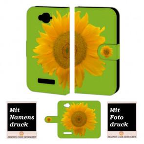 Alcatel C7 Sonnenblumen Handy Tasche Hülle Foto Bild Druck