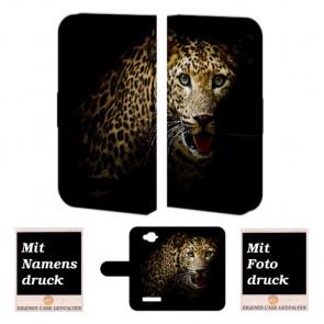 Alcatel C7 Tiger Handy Tasche Hülle Foto Bild Druck