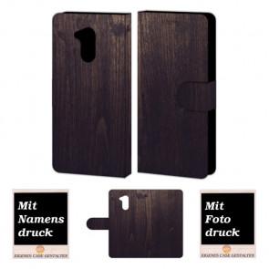 Huawei Honor 6A Handyhülle mit Foto Bild Druck zum selbst gestalten Holz Optik