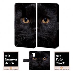 Huawei Honor 6A Personalisierte Handyhülle mit Fotodruck Schwarz Katze