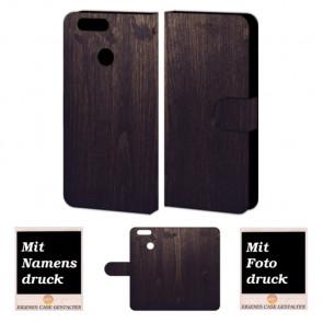 Huawei Nova 2 Plus Handyhülle mit Foto Bild Druck zum selbst gestalten Holz Optik