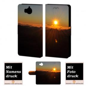 Huawei Y5 / Y6 2017 Sonnenaufgang Handy Tasche Hülle Foto Bild Druck