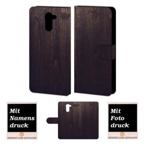 Huawei Y7/ Y7 Prime Handy Tasche mit Holz Optik Fotodruck Etui