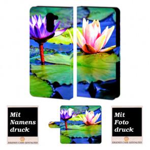 Handy Tasche für Huawei Y7/ Y7 Prime mit Bilddruck Lotosblumen