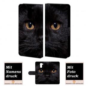 Huawei Y7/ Y7 Prime Handyhülle mit Foto Druck zum selbst gestalten Schwarz Katze