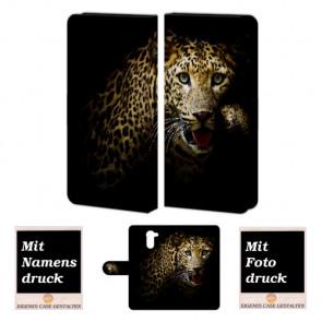 Huawei Y7/ Y7 Prime Individuelle Handy Tasche mit Leopard Fotodruck