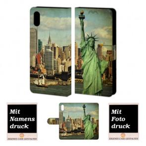 iPhone X Handyhülle selbst gestalten mit eigenem Foto Freiheitsstatue