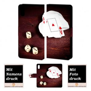 iPhone X Handyhülle mit Foto Bild Druck zum selbst gestalten Spielkarten -Würfel