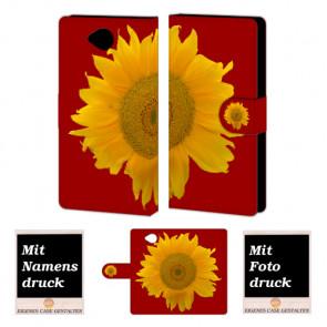 Microsoft Lumia 650 Sonnenblumen Handy Tasche Hülle Foto Bild Druck