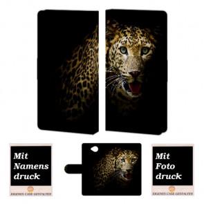 Microsoft Lumia 650 Tiger Handy Tasche Hülle Foto Bild Druck