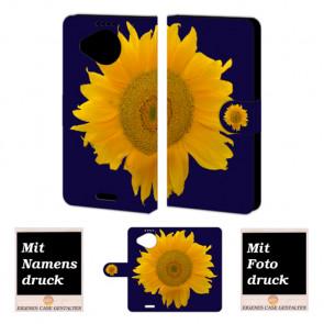 Microsoft Lumia 950 XLSonnenblumen Handy Tasche Hülle Foto Bild Druck