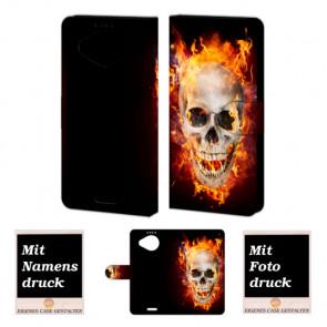 Microsoft Lumia 950 XL Totenschädel Handy Tasche Hülle Foto Bild Druck