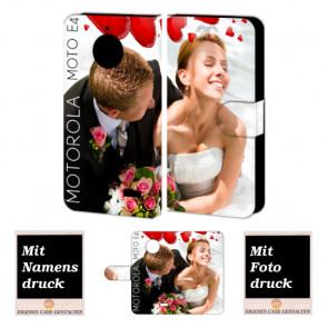 Motorola Moto E4 Personalisierte Handyhülle mit Foto Text Druck