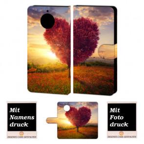 Motorola Moto G5s Smartphonehülle mit eigenem Foto Bild selbst gestalten Herzbaum