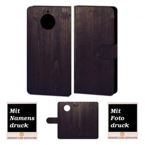 Motorola Moto G5s Handyhülle selbst gestalten mit eigenem Foto Holz Optik