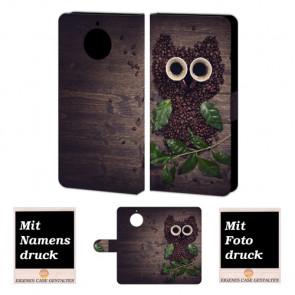 Motorola Moto G5s Plus Handyhülle mit Kaffee Eule Bild Druck zum selbst gestalten