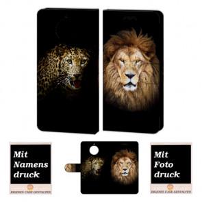 Motorola Moto G5s Handyhülle mit Foto Bild Druck zum selbst gestalten Löwe - Tiger