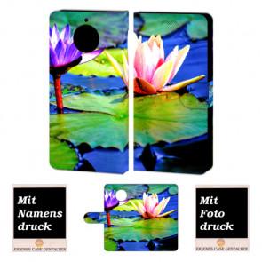 Motorola Moto G5s Handyhüllen mit Bild und Text online selbst gestalten Lotosblumen