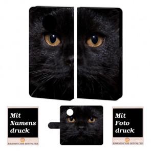 Motorola Moto G5s Plus Personalisierte Handyhülle mit Schwarz Katze Foto Bild Druck