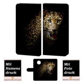 Motorola Moto G5s Handyhülle mit Foto Bild Druck zum selbst gestalten Tiger