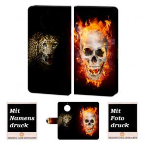 Motorola Moto G5s Handyhülle selbst gestalten mit eigenem Foto Totenschädel-Tiger