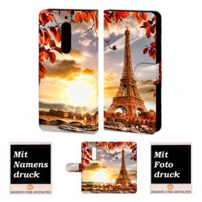 Nokia 6 Personalisierte Handyhülle mit Eiffelturm + Bilddruck Etui Text