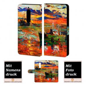 Nokia 6 Personalisierte Handyhülle Tasche mit Gemälde + Fotodruck Etui