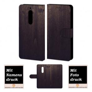Personalisierte Handyhülle für Nokia 6 mit Holz - Optik + Fotodruck