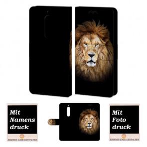 Nokia 5 Personalisierte Handy Tasche Hülle mit Löwe + Foto Druck Etui