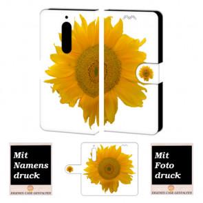 Schutzhülle Handy Hülle für Nokia 5 mit Sonnenblumen + Fotodruck Etui
