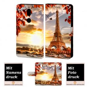 Nokia 7 Handy Hülle Tasche mit Eiffelturm Foto Bild Druck zum selbst gestalten