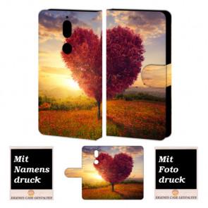 Nokia 7 Handy Hülle Tasche mit Herzbaum Foto Bild Druck zum selbst gestalten