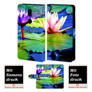 Nokia 7 Handy Hülle Tasche mit Lotosblumen Foto Bild Druck zum selbst gestalten