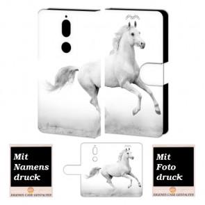 Nokia 7 Handy Hülle Tasche Etui mit Pferd Foto Bild Druck zum selbst gestalten