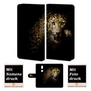 Nokia 7 Handy Hülle Tasche mit Tiger Foto Bild Druck zum selbst gestalten