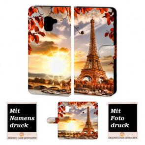 Samsung Galaxy A8 Plus (2018) Schutzhülle Handytasche mit Eiffelturm Foto Druck