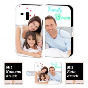 Ledertasche für Samsung Galaxy S3 mini mit Foto und Text zum selbst gestalten.