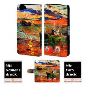 Wiko Rainbow jam Gemälde Handy Tasche Hülle Foto Bild Druck