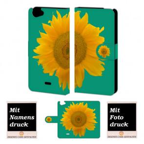 Wiko Rainbow jam Sonnenblumen Handy Tasche Hülle Foto Bild Druck