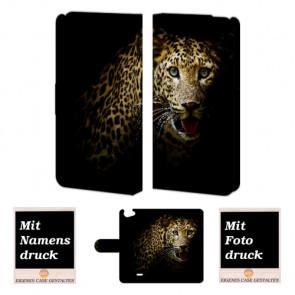 Wiko Rainbow jam Tiger Handy Tasche Hülle Foto Bild Druck
