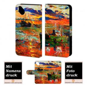 Wiko Sunset 2 Gemälde Handy Tasche Hülle Foto Bild Druck