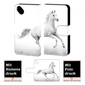 Wiko Sunset 2 Pferd Handy Tasche Hülle Foto Bild Druck