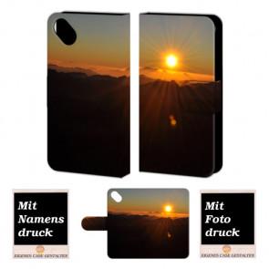 Wiko Sunset 2 Sonnenaufgang Handy Tasche Hülle Foto Bild Druck