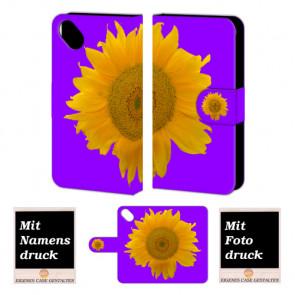 Wiko Sunset 2 Sonnenblumen Handy Tasche Hülle Foto Bild Druck