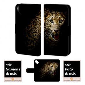 Wiko Sunset 2 Tiger Handy Tasche Hülle Foto Bild Druck