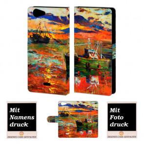 Wiko Pulp 4G Gemälde Handy Tasche Hülle Foto Bild Druck