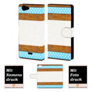 Wiko Pulp 4G Muster Handy Tasche Hülle Foto Bild Druck