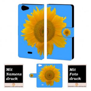 Wiko Pulp 4G Sonnenblumen Handy Tasche Hülle Foto Bild Druck