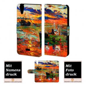 Wiko Rainbow jam 4G Gemälde Handy Tasche Hülle Foto Bild Druck